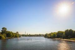 夏天在汉堡,德国 免版税库存照片