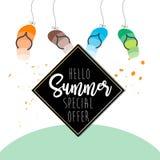 夏天在白色背景的设计元素 免版税库存照片