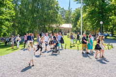 夏天在诺尔雪平,瑞典 免版税库存照片