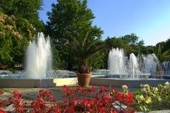 夏天城市喷泉 免版税库存图片