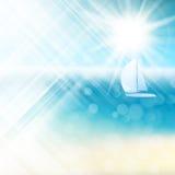 夏天太阳光爆炸EPS 10 图库摄影
