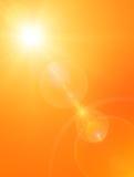 夏天太阳背景 库存照片