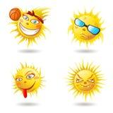 夏天太阳面对 图库摄影