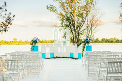 夏天婚礼的装饰 库存照片