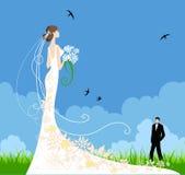 夏天婚礼 免版税库存照片
