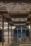 夏天室外咖啡馆大阳台 免版税库存图片