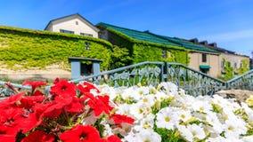 夏天小樽Cannel在札幌,北海道,日本 免版税库存照片