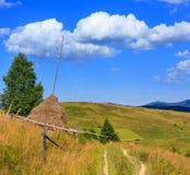 夏天山喀尔巴阡山脉国家的视图,乌克兰 免版税库存图片