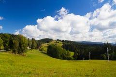 夏天山横向 免版税图库摄影