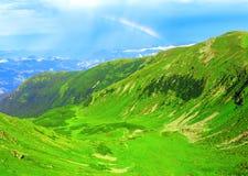 夏天山风景全景 图库摄影