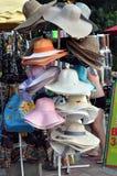 夏天帽子的汇集 免版税库存图片