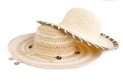 夏天帽子 免版税库存照片