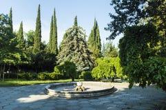 夏天庭院设计 免版税库存图片