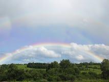 夏天彩虹。 免版税库存图片