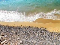 夏天意大利沙子和岩石 免版税库存照片
