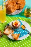 夏天或春天轻快早餐 图库摄影