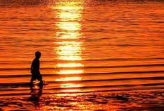 夏天日落在1770 库存照片