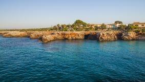 夏天早晨在马略卡海岛 库存照片