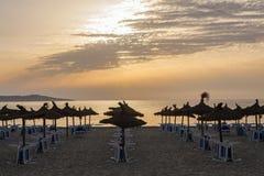 夏天早晨在马略卡海岛 免版税库存照片