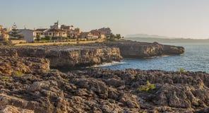 夏天早晨在马略卡海岛 免版税图库摄影