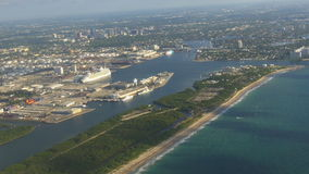 夏天早晨迈阿密市工业图4k佛罗里达美国 股票录像
