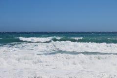 夏天末端在海滩的海风暴 库存图片
