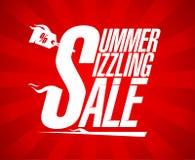夏天极热的销售传染媒介设计 免版税图库摄影