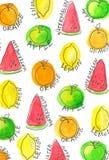 夏天果子样式 免版税库存照片