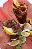 夏天果子茶,看法从上面 免版税库存照片
