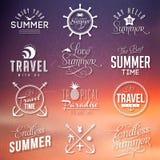 夏天标签 免版税库存照片