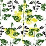 夏天样式 绿色叶子 自然墙纸 蝴蝶下落花卉花重点模式黄色 植物的样式 黄色元素 仿效 向量例证