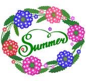 夏天框架 库存例证