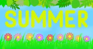 夏天横向 库存图片