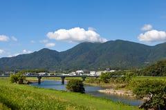 夏天河沿横向  图库摄影