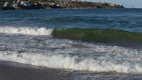 夏天沿海和海浪波浪 股票视频