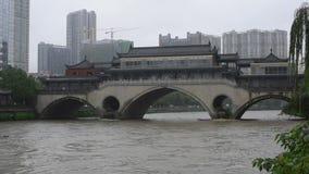 夏天洪水在成都中国