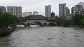 夏天洪水在成都中国 股票录像