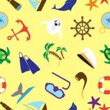 夏天海上旅行乱画材料样式 库存照片