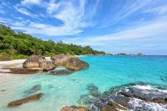 夏天海在泰国 免版税图库摄影