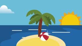 夏天海岛动画片HD定义 库存例证