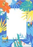 夏天海报音乐事件的和夏天菜单的 免版税库存照片