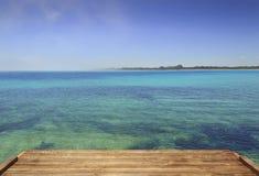 夏天海景,普利亚海岸:Torre Guaceto自然保护  卡罗维尼奥布林迪西-意大利 库存图片