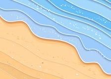 夏天海海滩背景 向量例证