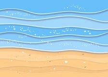 夏天海海滩背景 皇族释放例证