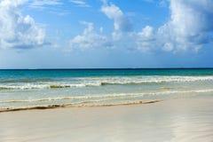 夏天海滩和海洋 图库摄影