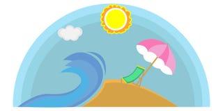 夏天海滩商标 库存图片