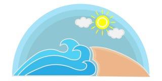 夏天海滩商标 库存照片