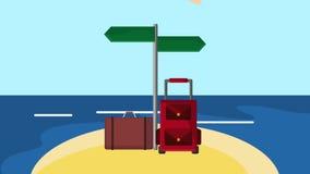 夏天海滩目的地HD定义 库存例证