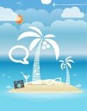 夏天海边假期例证 免版税库存图片