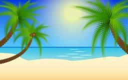 夏天海滩例证 免版税库存图片